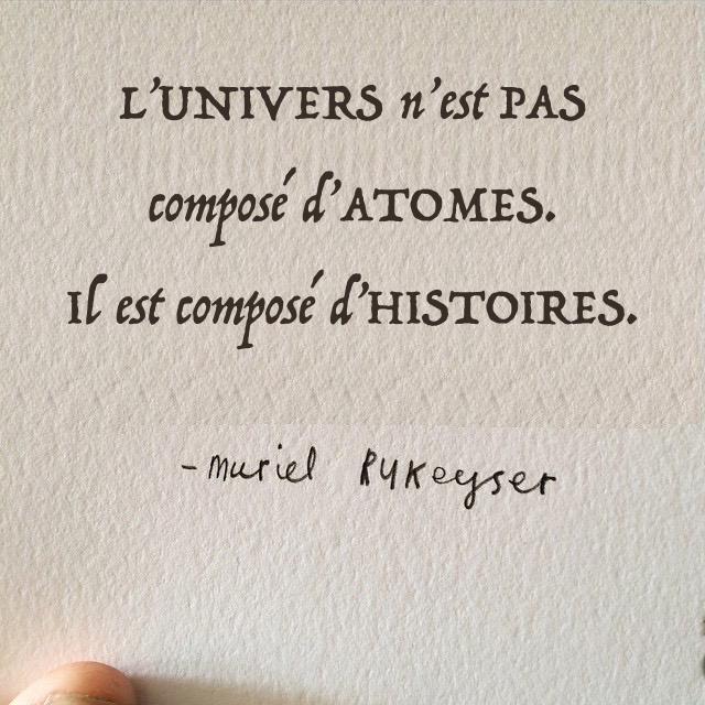 L'univers est composé d'histoires